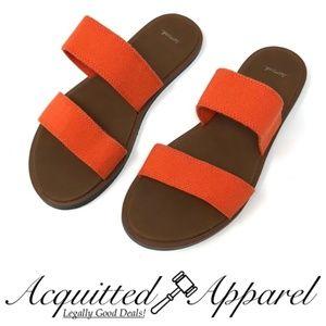 Sanuk Yoga Gora Gora Flats Sandals Orange Brown